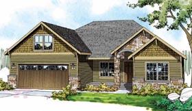 Cape Cod Cottage Craftsman European Ranch House Plan 59492 Elevation