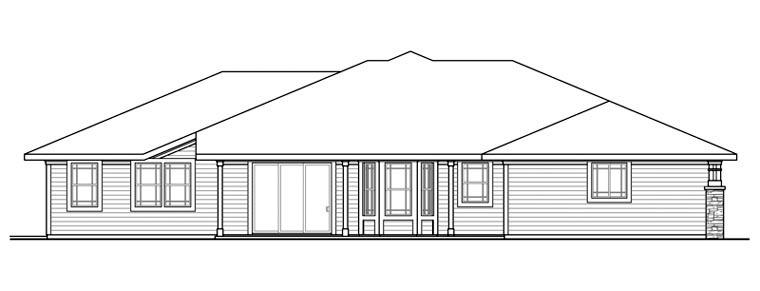 Craftsman European House Plan 59493 Rear Elevation