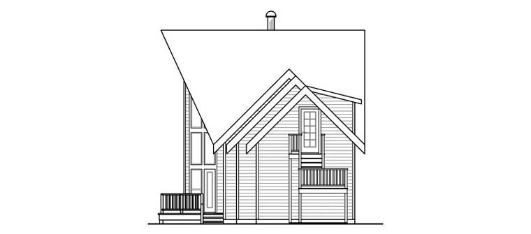 A-Frame, Cabin, Contemporary, Cottage House Plan 59495 with 3 Beds, 3 Baths, 2 Car Garage Picture 2