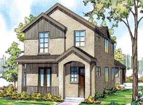 Contemporary Florida Mediterranean Southwest House Plan 59497 Elevation