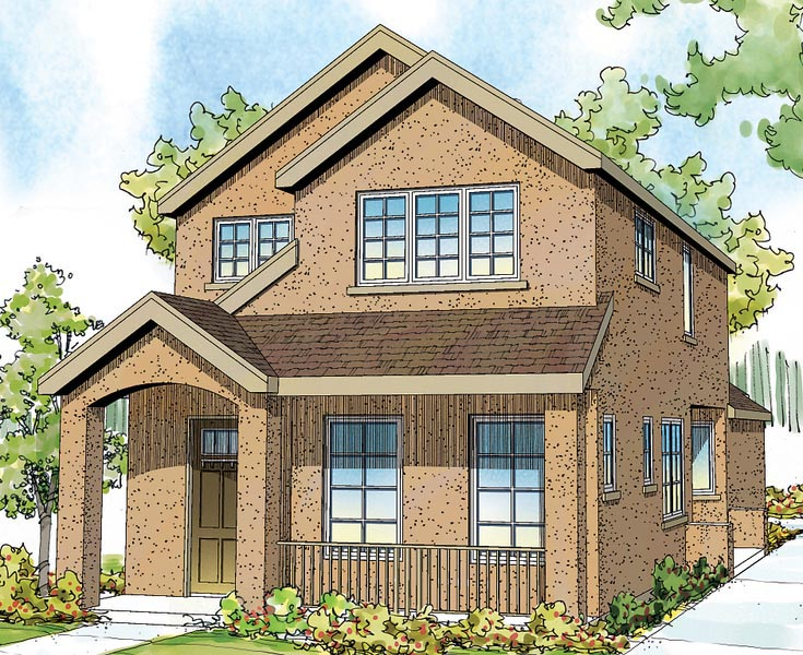 Contemporary Florida Southwest House Plan 59499 Elevation
