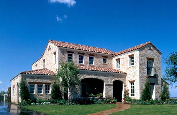 Mediterranean, Traditional House Plan 59506 with 5 Beds, 5 Baths, 2 Car Garage Front Elevation