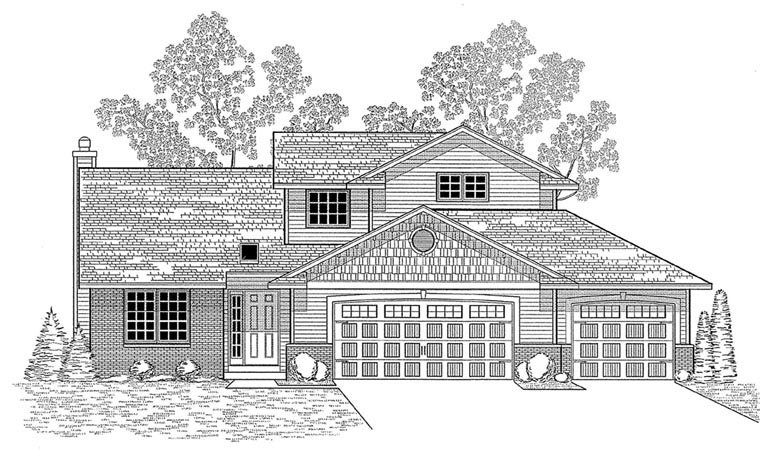 Traditional House Plan 59672 Elevation