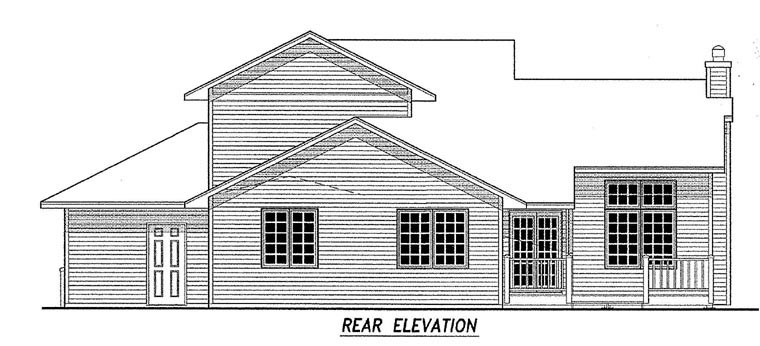 Traditional House Plan 59672 Rear Elevation