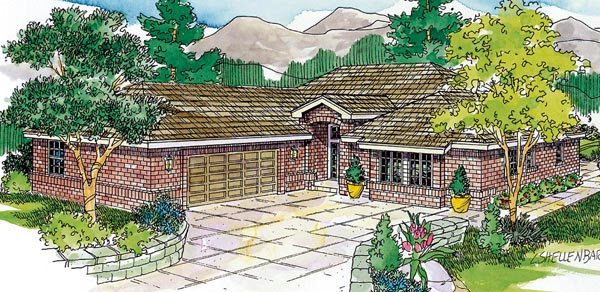 Contemporary European Ranch Traditional House Plan 59700 Elevation