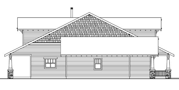 Bungalow, Cabin, Cottage, Country, Craftsman House Plan 59702 with 3 Beds, 3 Baths, 2 Car Garage Picture 1