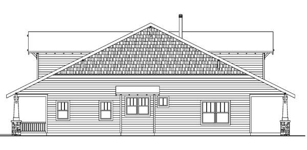 Bungalow, Cabin, Cottage, Country, Craftsman House Plan 59702 with 3 Beds, 3 Baths, 2 Car Garage Picture 2