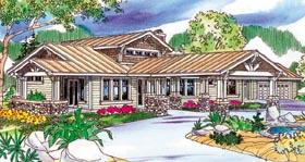 Bungalow Craftsman Ranch House Plan 59703 Elevation