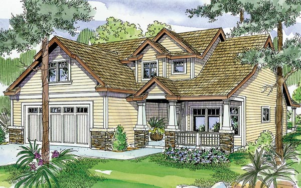 Bungalow Cottage Craftsman House Plan 59705 Elevation