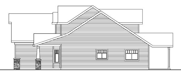 Bungalow, Cottage, Craftsman House Plan 59705 with 3 Beds, 3 Baths, 2 Car Garage Picture 2