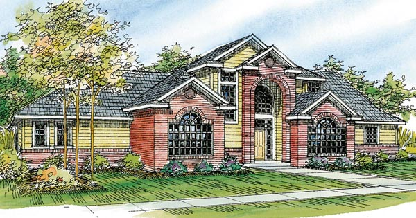 Contemporary European Traditional House Plan 59708 Elevation