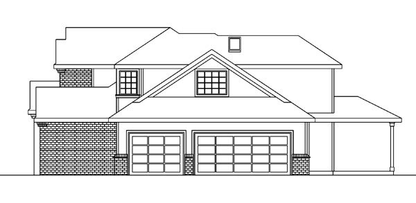 Contemporary, European, Traditional House Plan 59708 with 3 Beds, 3 Baths, 3 Car Garage Picture 2