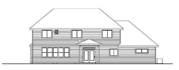 Cape Cod European House Plan 59709 Rear Elevation