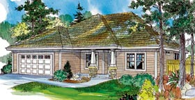 Bungalow Cottage Country Craftsman Ranch House Plan 59711 Elevation