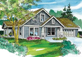 Bungalow Cottage Country Craftsman House Plan 59712 Elevation