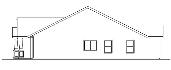 Bungalow, Cottage, Country, Craftsman, Ranch House Plan 59713 with 3 Beds, 2 Baths, 2 Car Garage Picture 2