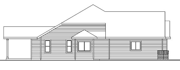 Contemporary, Craftsman, Ranch, Traditional House Plan 59714 with 3 Beds, 3 Baths, 3 Car Garage Picture 1