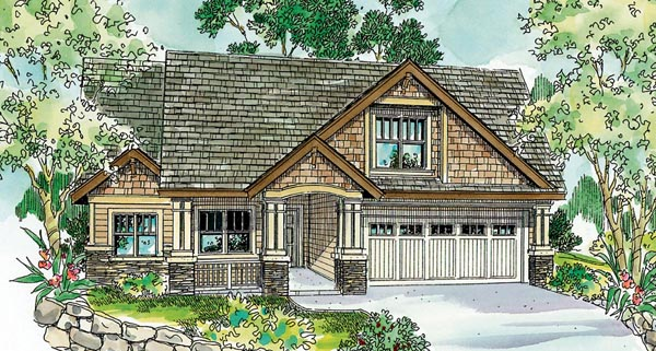 Cape Cod Cottage Country Craftsman European House Plan 59715 Elevation