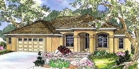 Florida Mediterranean Ranch Southwest House Plan 59716 Elevation