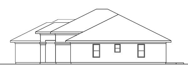 Florida, Mediterranean, Ranch, Southwest House Plan 59716 with 3 Beds, 2 Baths, 2 Car Garage Picture 2