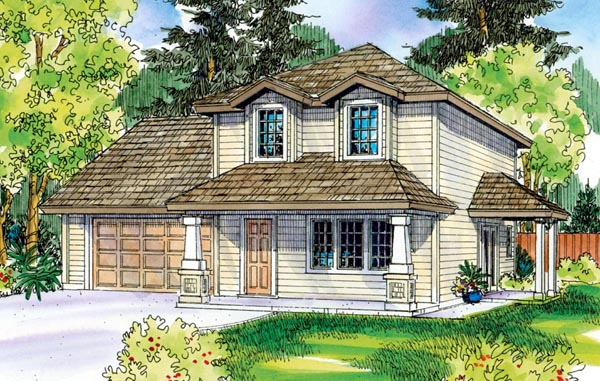 Contemporary Cottage Country Craftsman House Plan 59718 Elevation