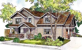 Coastal Cottage Country Craftsman Traditional House Plan 59722 Elevation