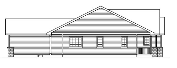 Cottage, Country, Ranch, Traditional, Victorian House Plan 59725 with 3 Beds, 2 Baths, 2 Car Garage Picture 1