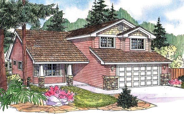 Bungalow Contemporary Country Craftsman Traditional House Plan 59726 Elevation