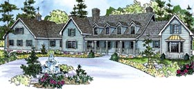Colonial , Country , Farmhouse , Florida House Plan 59729 with 4 Beds, 5 Baths, 5 Car Garage Elevation