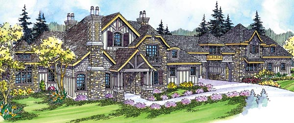 Country European Tudor House Plan 59731 Elevation