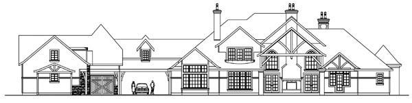 Country European Tudor House Plan 59731 Rear Elevation