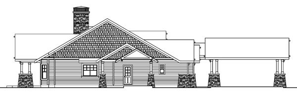 Bungalow, Cottage, Country, Craftsman, Ranch House Plan 59732 with 2 Beds, 4 Baths, 2 Car Garage Picture 1