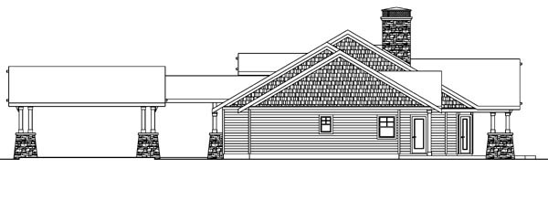 Bungalow, Cottage, Country, Craftsman, Ranch House Plan 59732 with 2 Beds, 4 Baths, 2 Car Garage Picture 2