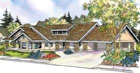 European Florida Ranch House Plan 59733 Elevation