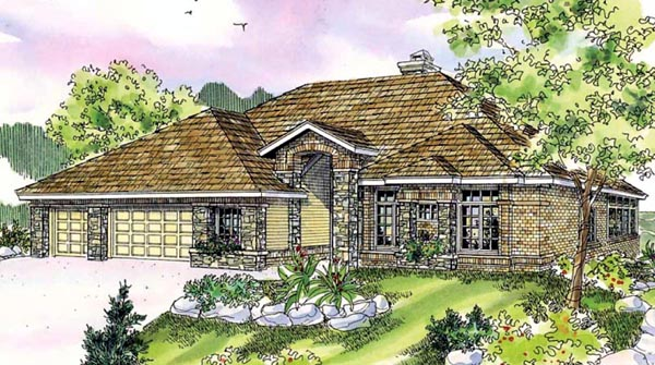Contemporary House Plan 59736 Elevation