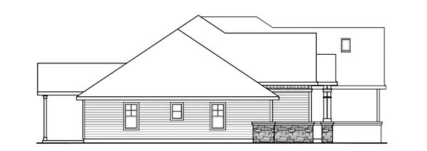 House Plan 59737 | Cottage Style Plan with 2689 Sq Ft, 3 Bedrooms, 3 Bathrooms, 3 Car Garage