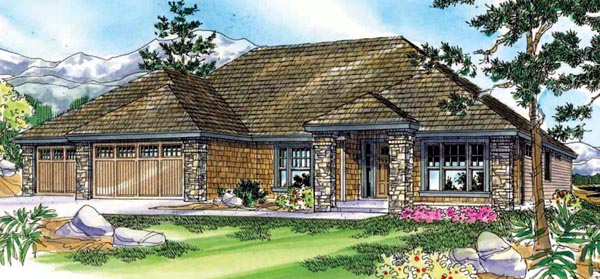 Craftsman House Plan 59738 Elevation