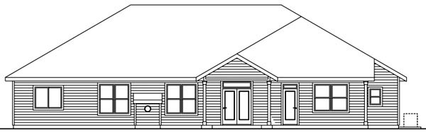Craftsman House Plan 59738 Rear Elevation