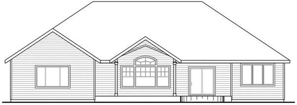 European House Plan 59739 Rear Elevation