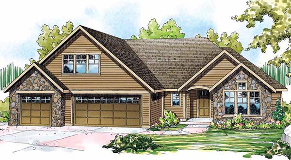 Contemporary House Plan 59740 Elevation