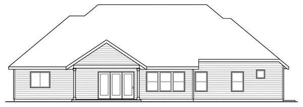 Contemporary House Plan 59740 Rear Elevation