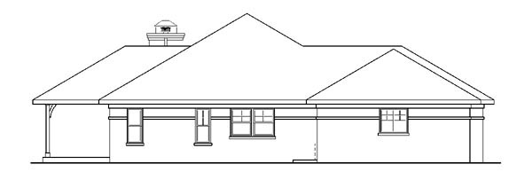 European, Ranch, Traditional House Plan 59741 with 3 Beds, 2 Baths, 3 Car Garage Picture 1