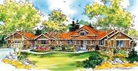 Bungalow Cape Cod Craftsman Florida Ranch House Plan 59742 Elevation