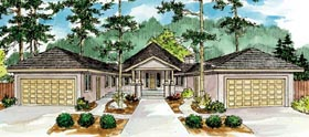 Contemporary Florida Mediterranean Ranch House Plan 59743 Elevation