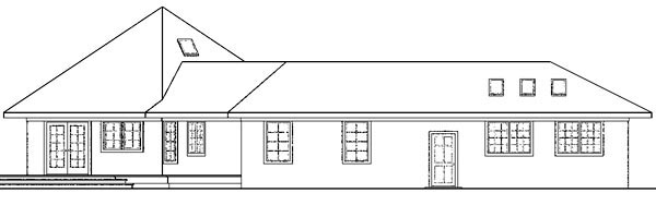 Contemporary, Florida, Mediterranean, Ranch House Plan 59743 with 3 Beds, 2 Baths, 4 Car Garage Picture 1