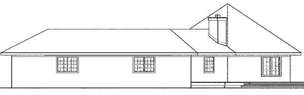 Contemporary, Florida, Mediterranean, Ranch House Plan 59743 with 3 Beds, 2 Baths, 4 Car Garage Picture 2