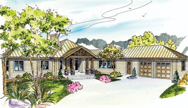 Contemporary Florida Ranch House Plan 59745 Elevation