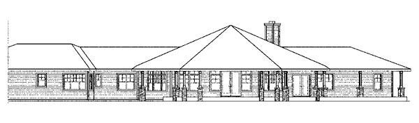 Contemporary Florida Ranch House Plan 59745 Rear Elevation