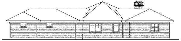 Contemporary Cottage Craftsman European House Plan 59747 Rear Elevation