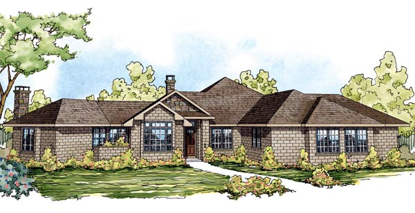 Contemporary European Florida Ranch House Plan 59748 Elevation